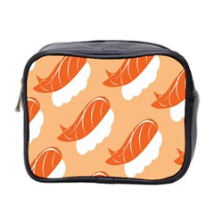 Fish Eat Japanese Sushi Mini Toiletries Bag 2 Side by Mariart