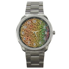 Crystals Rainbow Sport Metal Watch by Mariart