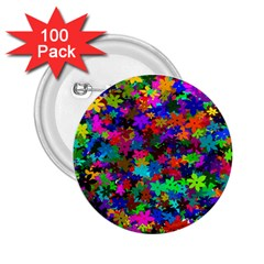 Flowersfloral Star Rainbow 2 25  Buttons (100 Pack)