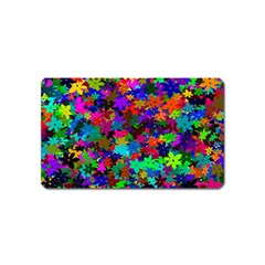 Flowersfloral Star Rainbow Magnet (name Card) by Mariart