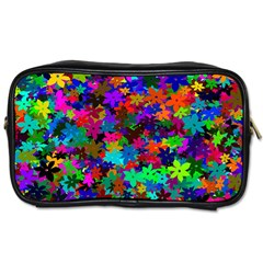 Flowersfloral Star Rainbow Toiletries Bags by Mariart