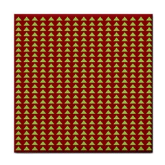 Hawthorn Sharkstooth Triangle Green Red Tile Coasters by Mariart