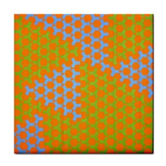 Green Blue Orange Face Towel by Mariart