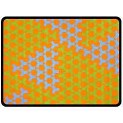 Green Blue Orange Fleece Blanket (large)  by Mariart