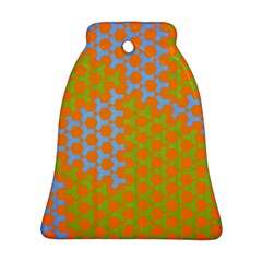 Green Blue Orange Bell Ornament (two Sides) by Mariart