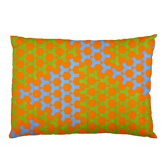 Green Blue Orange Pillow Case (two Sides) by Mariart