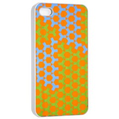 Green Blue Orange Apple Iphone 4/4s Seamless Case (white) by Mariart