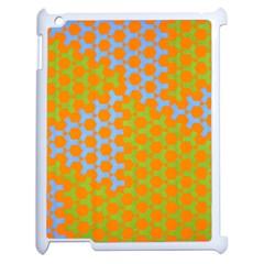 Green Blue Orange Apple Ipad 2 Case (white) by Mariart