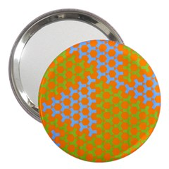 Green Blue Orange 3  Handbag Mirrors by Mariart