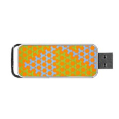Green Blue Orange Portable Usb Flash (two Sides) by Mariart