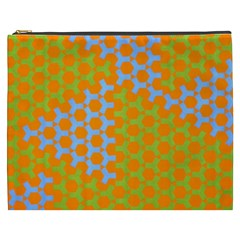 Green Blue Orange Cosmetic Bag (xxxl)  by Mariart