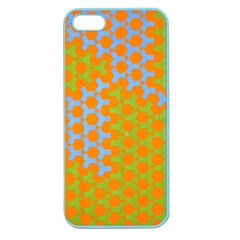 Green Blue Orange Apple Seamless Iphone 5 Case (color) by Mariart