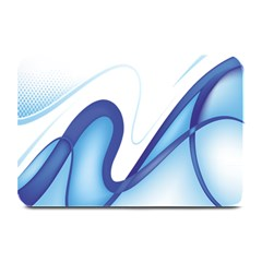 Glittering Abstract Lines Blue Wave Chefron Plate Mats by Mariart
