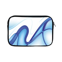 Glittering Abstract Lines Blue Wave Chefron Apple Ipad Mini Zipper Cases by Mariart
