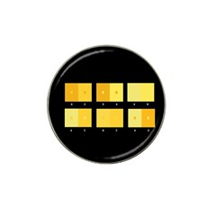 Horizontal Color Scheme Plaid Black Yellow Hat Clip Ball Marker by Mariart
