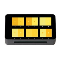 Horizontal Color Scheme Plaid Black Yellow Memory Card Reader With Cf by Mariart
