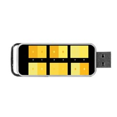 Horizontal Color Scheme Plaid Black Yellow Portable Usb Flash (two Sides) by Mariart