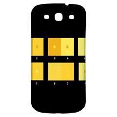 Horizontal Color Scheme Plaid Black Yellow Samsung Galaxy S3 S Iii Classic Hardshell Back Case by Mariart