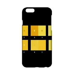 Horizontal Color Scheme Plaid Black Yellow Apple Iphone 6/6s Hardshell Case by Mariart