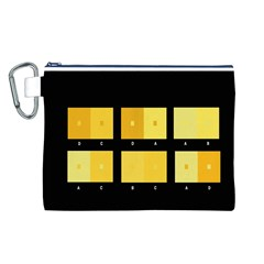 Horizontal Color Scheme Plaid Black Yellow Canvas Cosmetic Bag (l) by Mariart