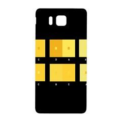 Horizontal Color Scheme Plaid Black Yellow Samsung Galaxy Alpha Hardshell Back Case by Mariart