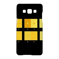 Horizontal Color Scheme Plaid Black Yellow Samsung Galaxy A5 Hardshell Case  by Mariart
