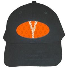 Iron Orange Y Combinator Gears Black Cap by Mariart