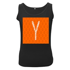 Iron Orange Y Combinator Gears Women s Black Tank Top by Mariart