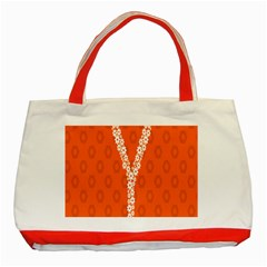 Iron Orange Y Combinator Gears Classic Tote Bag (red) by Mariart