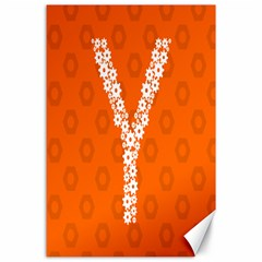 Iron Orange Y Combinator Gears Canvas 24  X 36  by Mariart