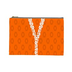 Iron Orange Y Combinator Gears Cosmetic Bag (large)  by Mariart