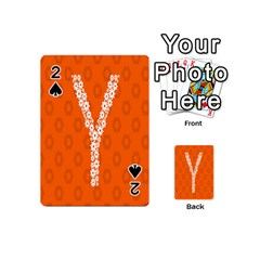 Iron Orange Y Combinator Gears Playing Cards 54 (mini)  by Mariart