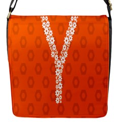 Iron Orange Y Combinator Gears Flap Messenger Bag (s) by Mariart