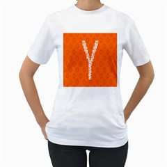 Iron Orange Y Combinator Gears Women s T Shirt (white)  by Mariart