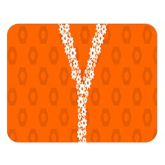 Iron Orange Y Combinator Gears Double Sided Flano Blanket (large)  by Mariart
