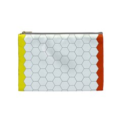 Hex Grid Plaid Green Yellow Blue Orange White Cosmetic Bag (medium)  by Mariart