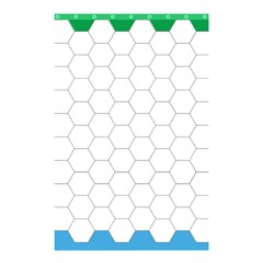 Hex Grid Plaid Green Yellow Blue Orange White Shower Curtain 48  X 72  (small)  by Mariart