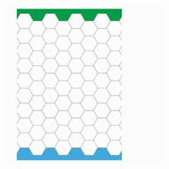 Hex Grid Plaid Green Yellow Blue Orange White Small Garden Flag (two Sides) by Mariart