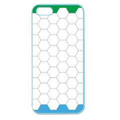 Hex Grid Plaid Green Yellow Blue Orange White Apple Seamless Iphone 5 Case (color) by Mariart