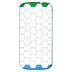 Hex Grid Plaid Green Yellow Blue Orange White Samsung Galaxy S3 S Iii Classic Hardshell Back Case by Mariart