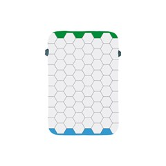 Hex Grid Plaid Green Yellow Blue Orange White Apple Ipad Mini Protective Soft Cases by Mariart