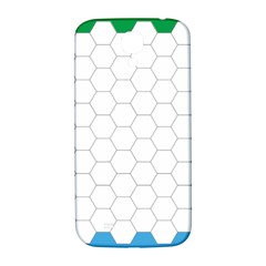 Hex Grid Plaid Green Yellow Blue Orange White Samsung Galaxy S4 I9500/i9505  Hardshell Back Case by Mariart