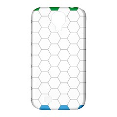 Hex Grid Plaid Green Yellow Blue Orange White Samsung Galaxy S4 Classic Hardshell Case (pc+silicone) by Mariart
