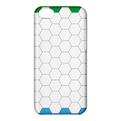 Hex Grid Plaid Green Yellow Blue Orange White Apple Iphone 5c Hardshell Case by Mariart