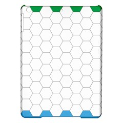 Hex Grid Plaid Green Yellow Blue Orange White Ipad Air Hardshell Cases by Mariart
