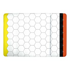 Hex Grid Plaid Green Yellow Blue Orange White Samsung Galaxy Tab Pro 10 1  Flip Case by Mariart