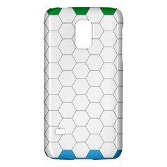 Hex Grid Plaid Green Yellow Blue Orange White Galaxy S5 Mini by Mariart