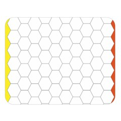 Hex Grid Plaid Green Yellow Blue Orange White Double Sided Flano Blanket (large)  by Mariart