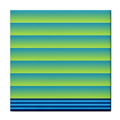 Line Horizontal Green Blue Yellow Light Wave Chevron Tile Coasters by Mariart