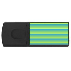 Line Horizontal Green Blue Yellow Light Wave Chevron Usb Flash Drive Rectangular (4 Gb) by Mariart